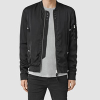 ALLSAINTS US: Mens Moyle Bomber Jacket (Black)