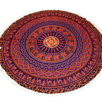 Mandala Round Beach Throw Yoga Mat Table Cover Boho Tapestry Wall hanging 5566