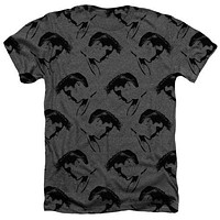 New Elvis Profiles Heathered Tee Shirt