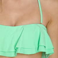 Double Layer Flounce Bandeau