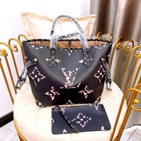Free shipping-LV women's shopping bag mother bag two-piece