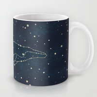 Whale Constellation  Mug by Terry Fan
