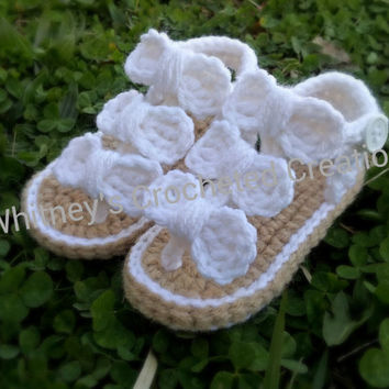 crochet sandals with bows