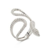 Pave Snake Statement Ring