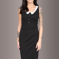 Dark Doll Wednesday Collar Dress