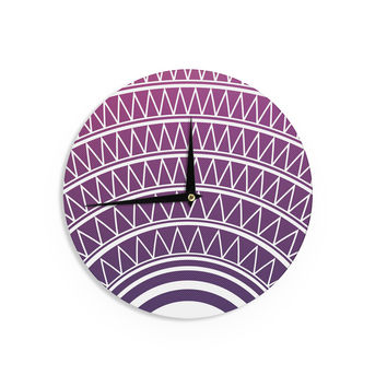 "Matt Eklund ""Amethyst Portal "" Purple White Wall Clock"