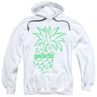 PSYCH/PINEAPPLE-ADULT PULL-OVER HOODIE-WHITE