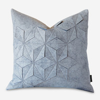 Geometric Felt Pillow Cover – Gray