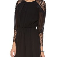 alice + olivia Dany Lace Shoulder Dress | SHOPBOP | Use Code: INTHEFAMILY25 for 25% Off