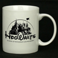 hogwarts castle as disney castle For Ceramic Mugs Coffee *