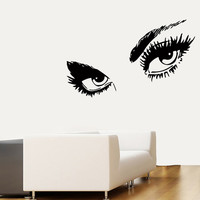 Wall Decals Vinyl Decal Eyes Fashion Girl People Beauty Salon Home Vinyl Decal Sticker Kids Nursery Baby Room Decor kk166