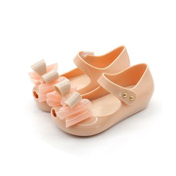 Mini Melissa Mini Three Bows Jelly Girls Sandal