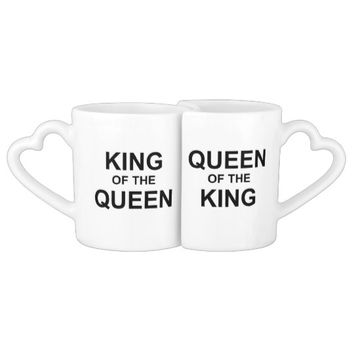KING AND QUEEN COFFEE MUG SET