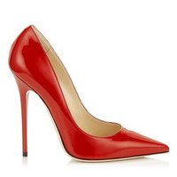 Red Patent Pointy Toe Pumps   Anouk   Autumn Winter 14   JIMMY CHOO Shoes