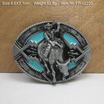 CowgirlsMetal Belt Buckle Texas Fashion Mens Western Badge Feathers Native Avengers