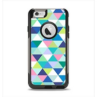 The Vibrant Fun Colored Triangular Pattern Apple iPhone 6 Otterbox Commuter Case Skin Set