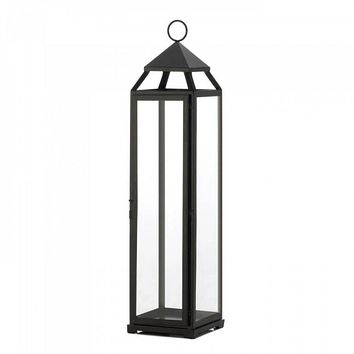 Set of 2 Extra Tall Black Lanterns