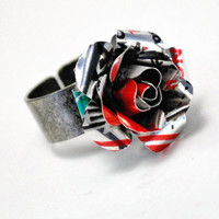 Recycled Jewelry Diet Coke Rose Ring