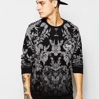 ASOS | ASOS Sweathirt With Floral Print & Chest Print at ASOS