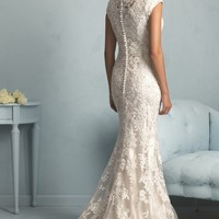 Lace Slim Gown by Allure Bridals