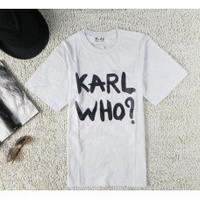 PRE ORDER ** Karl Who Tshirt - Online Fashion Accessories - With Love Kirsten