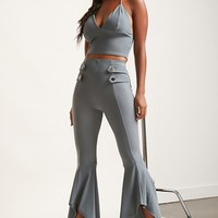 Crop Top and Flared Pants Set