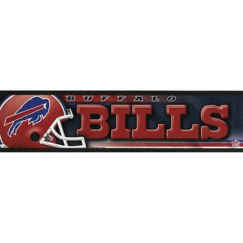 Buffalo Bills - Helmet & Name Bumper Sticker