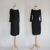 Fredericks of Hollywood / Vintage Dress / Bombshell Dress / 80s Wiggle Dress / 80s Dress / LBD