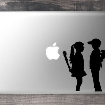 Banksy Boy & Girl MacBook Decal
