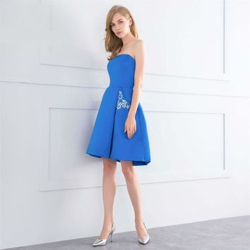 New high quality short  Evening Dresses for Formal Evening  Bride dress A-Line dress