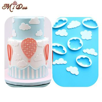New Cloud Plastic Cake/Cookie/Biscuits Cutter Mold Sugarcraft Cake Decorating Fondant Icing Cutters Cake Decoration Mould