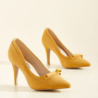 Pump at the Opportunity Heel in Goldenrod | Mod Retro Vintage Heels | ModCloth.com