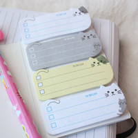 Cute Kawaii Cat Kitty Kitten Sticky Notes Bookmarks To Do