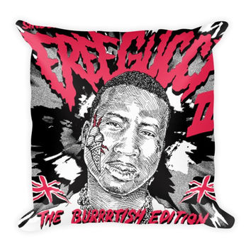 Free Gucci 2 (16x16) All Over Print/Dye Sublimation Gucci Mane Couch Throw Pillow Insert & Pillow Case/Cover