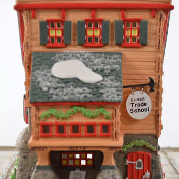 Department 56 North Pole Series Elve's Trade School