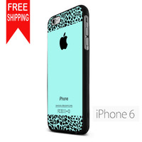 Tiffany Teal And Leopard Pattern FDL iPhone 6 Case