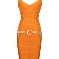 Orange Kollete Novelty Essentials Dress