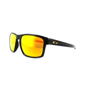 Oakley Sunglasses Sliver OO9262-27 Valentino Rossi Polished Black Fire Iridium