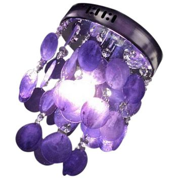 NFLC-Child Bedroom Purple Crystal Shell Pendant Lamp Chandelier Ceiling light