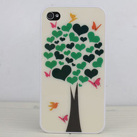 Wishing Tree White Hard Case Cover for Apple iPhone 4gs Case, iPhone 4s Case, iPhone 4 Hard Case