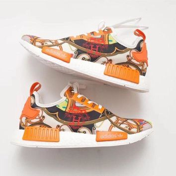 ADIDAS NMD R1 & HERMES Fashion Women Men Leisure Sport Running Shoe I