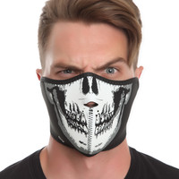 Skull Glow-In-The-Dark Neoprene Half Face Mask