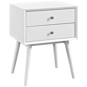 Dispatch Mid-Century Modern Style Nightstand (Multiple Colors)