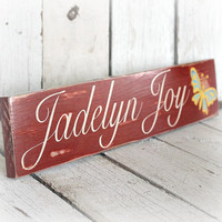 Custom Name Sign to Match Nursery Bedding by MannMadeDesigns4
