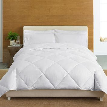 Cuddl Duds 400-Thread Count Level 3 Down-Alternative Comforter (White)
