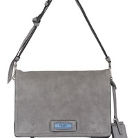 Grey Lambskin Etiquette Messenger by Prada