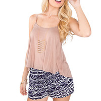 Ria Basic Top - Taupe