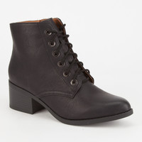 CITY CLASSIFIED Lace Up Womens Heeled Boots | Boots & Booties