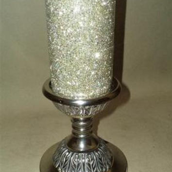 Antique Brass Silver Plated Metal Candle Lamp Candle Holder