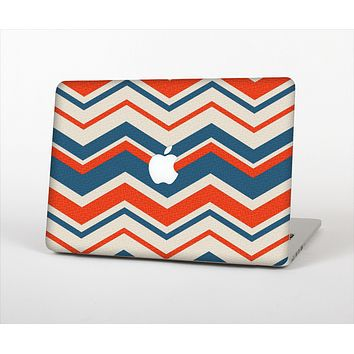 The Red, White and Blue Textile Chevron Pattern Skin Set for the Apple MacBook Air 13""